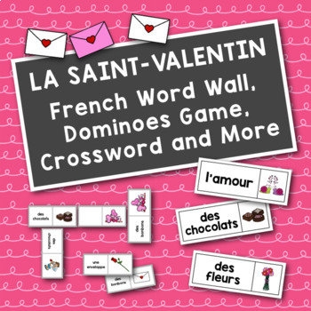 La Saint-Valentin: French Valentine's Day Dominoes Game and Flash Cards