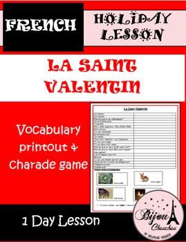 La Saint Valentin - French vocabulary and Charade Game