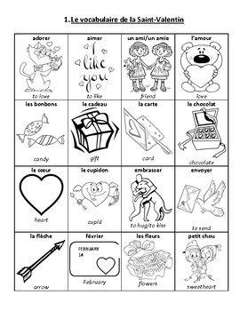 La Saint-Valentin: Grade 1-3 Core French Valentine's Day Activity Booklet