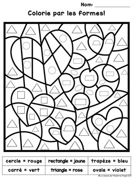 valentine coloring pages french - photo#12
