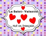 La Saint- Valentin Word Wall- French