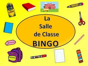 La Salle de Classe BINGO – French Classroom Objects Vocabulary