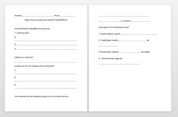La Salud: Listening activity and student guided listening worksheet