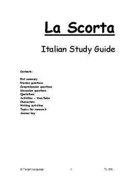 La Scorta - Italian Study Guide