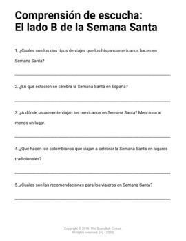 La Semana Santa: activities to practice the four skills