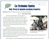 Easter / La Semana Santa in Spain and Mexico: Reading & Activities