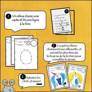 La Silhouette 2 : Les monstres. Jeu de communication orale/ lecture en Français.