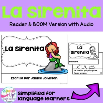 La Sirenita Spanish Reader ~ Simplified for Language Learners