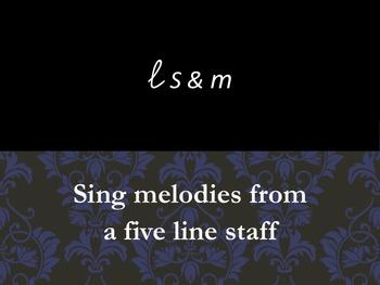 La So and Mi Reading from a 5 line staff Fdo