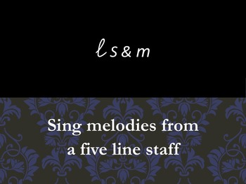 La So and Mi Reading from a 5 line staff Fdo