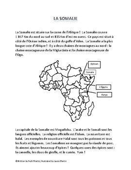 La Somalie -- A great package for Heritage Month in French!
