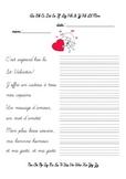 Écriture cursive - La St Valentin