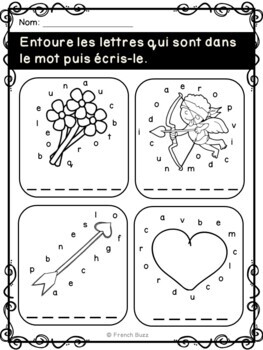 Saint-Valentin -Cahier d'activités -French Valentine's Day