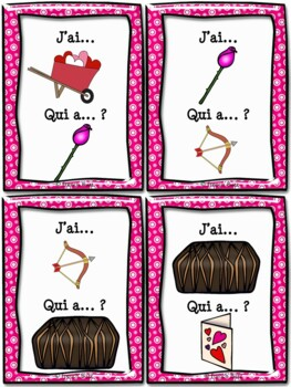 """Saint-Valentin - jeu """"j'ai... qui a...?"""" - French Valentine's Day"""