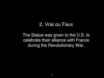 La Statue of Liberté-Statue of Liberty Trivia Game