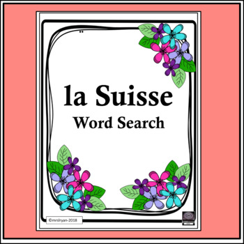 La Suisse Word Search