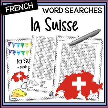 La Suisse Word Search
