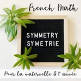 La Symétrie (FRENCH MATH SYMMETRY) Centres and Printables