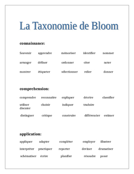 La Taxonomie