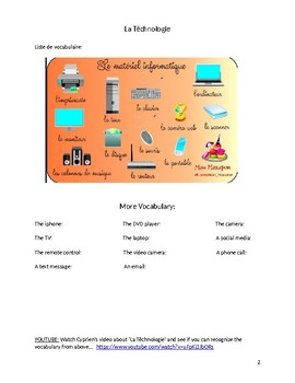 La Technologie booklet