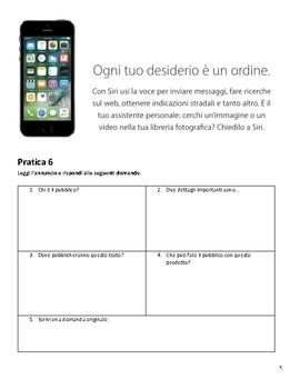 La Tecnologia - 10th Grade Italian