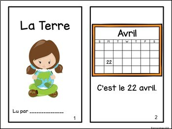 La Terre {Earth Day} French Reader & Cut & Paste Pages