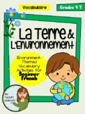 La Terre et L'Environnement - French Earth Day Vocab Pack
