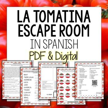 La Tomatina Break Out Room Spanish Escape Activity