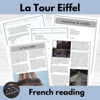 La Tour Eiffel - reading for beginning/intermediate French students