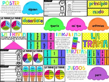 La Trama (Plot and Sequencing Activities in Spanish)