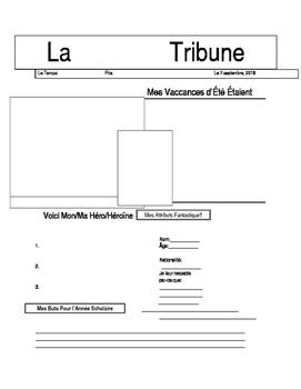 La Tribune--Student Profile as Newspaper--French