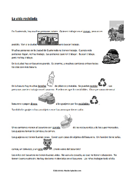 La Vida Reciclada / Recycled Life Activity Packet