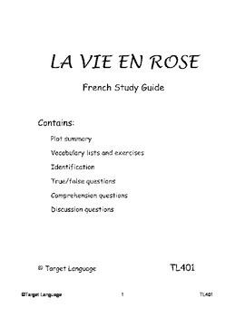 La Vie En Rose-French Study Guide
