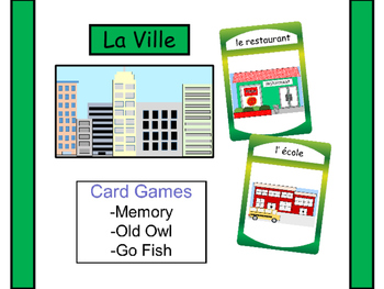 La Ville – The City Vocabulary in French Card Games