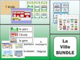 La Ville Vocabulary BUNDLE - The City Vocabulary in French