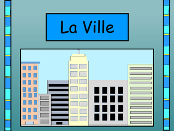 La Ville Vocabulary Presentation and Card Games-The City V