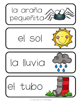 La araña pequeñita  lapbook (Spanish)