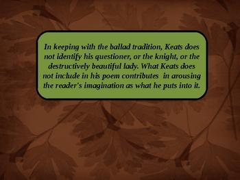 La belle dame sans merci-Keats