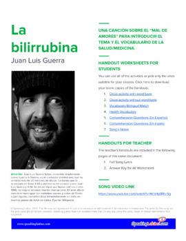 La bilirrubina by Juan Luis Guerra: Spanish Song to Introduce Health Vocabulary