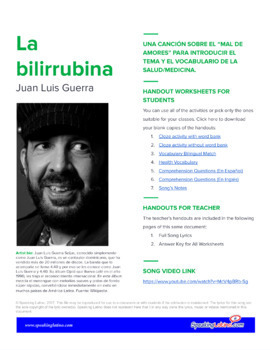 La bilirrubina by Juan Luis Guerra: Spanish Song to Introduce Health Vocabulary