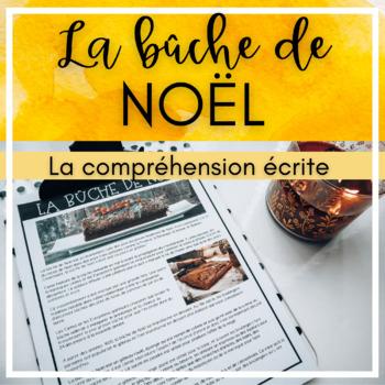 Article De Noel La bûche de Noël   article de compréhension écrite by FLE avec MmeD