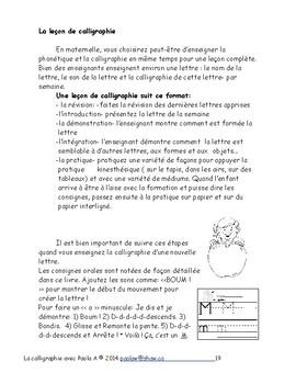 La calligraphie avec Paola A - Maternelle Immersion F 10
