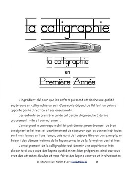 La calligraphie avec Paola B - Première Année F 11 Immersion