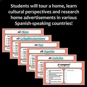 La casa / House Webquest (Google Drive & Printable)