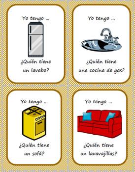 La casa - Muebles y electrodomésticos - Question Chain Game