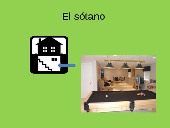 La casa PowerPoint Spanish House Home Vocabulary PPT