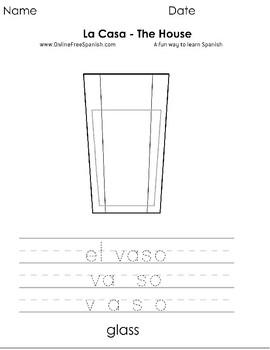 La casa - Spanish&English - coloring pages