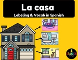 La casa (Spanish House Diagram, Vocabulary and labeling)