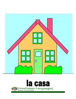 Flashcards: La casa - The house