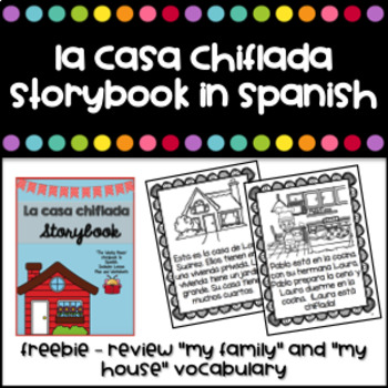 """La Casa Chiflada"" Story in Spanish to review parts of a house and action verbs"